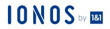 meine-erste-homepage ist bei Ionos gehostet