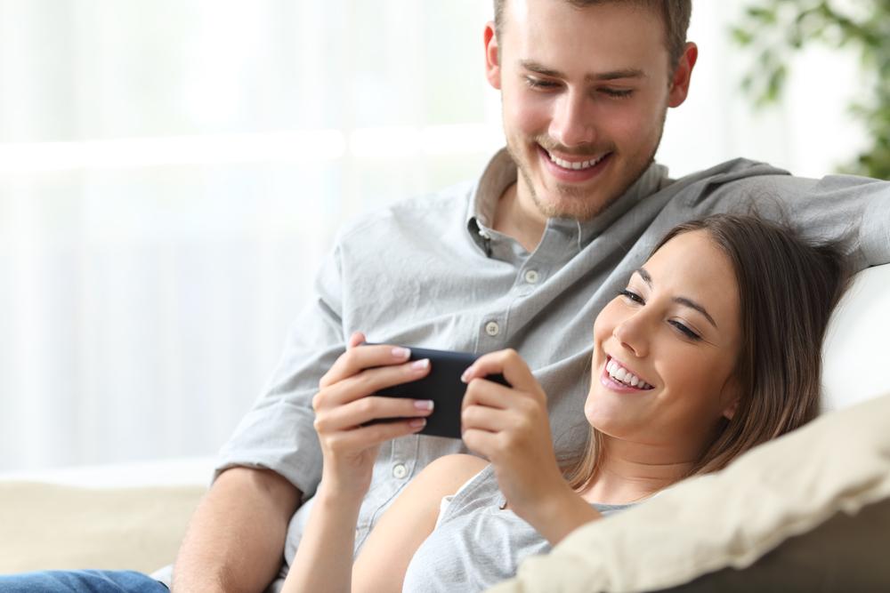 Responsive Homepage auf dem Smartphone
